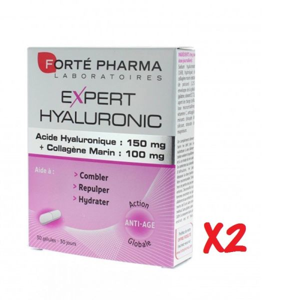 FORTE PHARMA EXPERT HYALURONIC 30 CAPSULAS X2