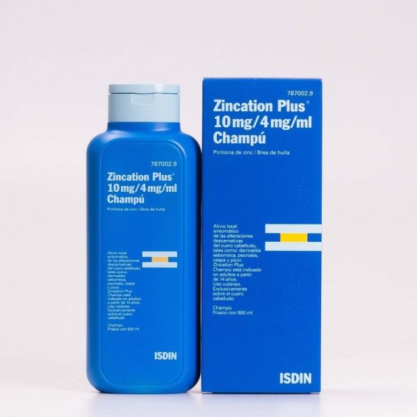 ISDIN ZINCATION CHAMPU ANTICASPA PLUS 4 500ML