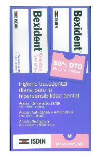 Bexident dientes sensibles dentífrico 75ml oferta 2 unidades