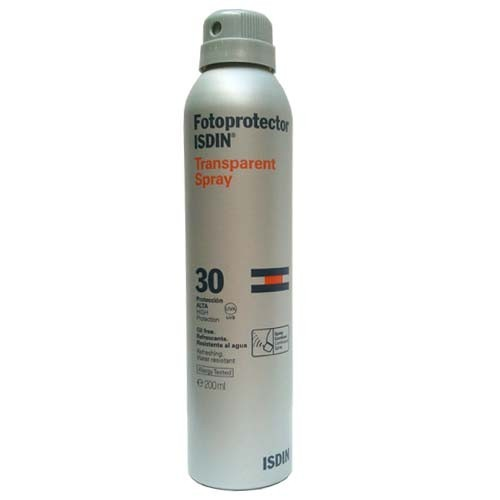 ISDIN FOTOPROTECTOR IP30 SPRAY TRANSPARENTE 200ML
