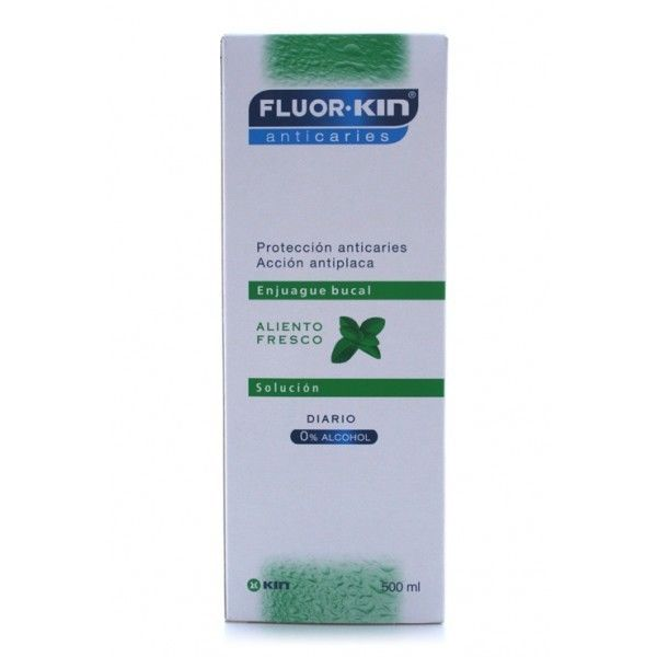KIN FLUOR ANTICARIES COLUTORIO MENTA 750ML-250ML REGALO