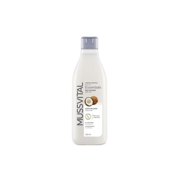 MUSSVITAL GEL DE BANO ESSENTIALS ACEITE DE COCO 750ML