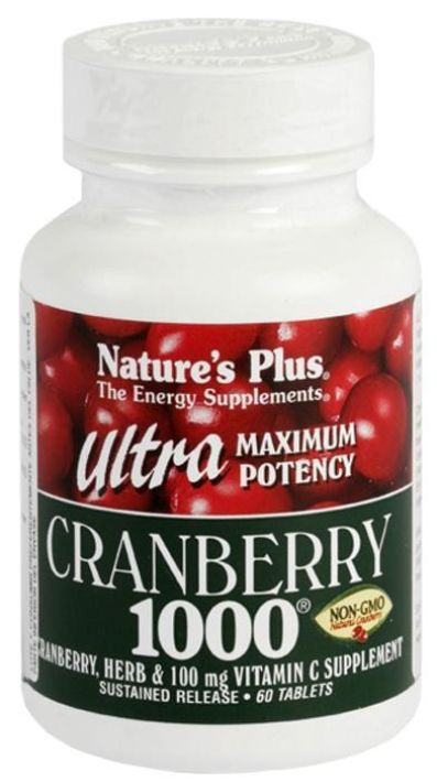 NATURES PLUS CRANBERRY 1000 60 COMPRIMIDOS