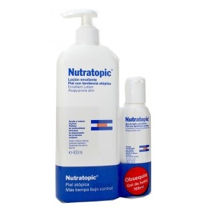 NUTRATOPIC PACK LOCION EMOLIENTE 400ML Y GEL 100ML