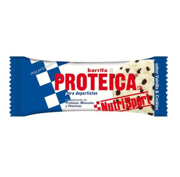 NUTRISPORT BARRITA PROTEICA VAINILLA COOKIES