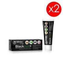 Oh White BlackMint+ Dentífrico blanqueador con carbón activado 2x75ml