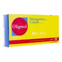 OLIGOSOL MANGANESO COBALTO 28 AMPOLLAS