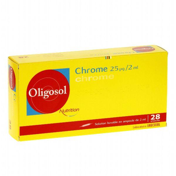 OLIGOSOL CHROMO 25MG 28 AMPOLLAS