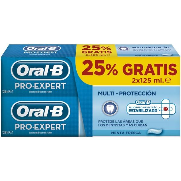 ORAL-B PRO-EXPERT DENTIFRICO MULTIPROTECT 125MLX2