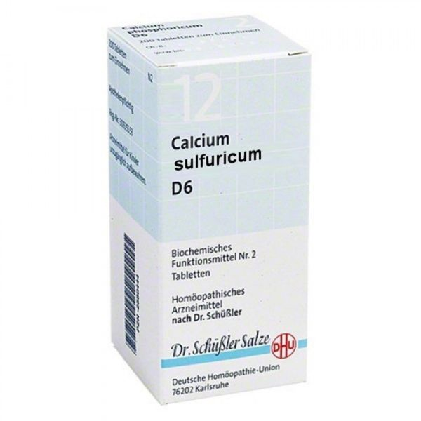 SALES DE SCHUSSLER 12 CALCIUM SULFURICUM 80 COMPRIMIDOS