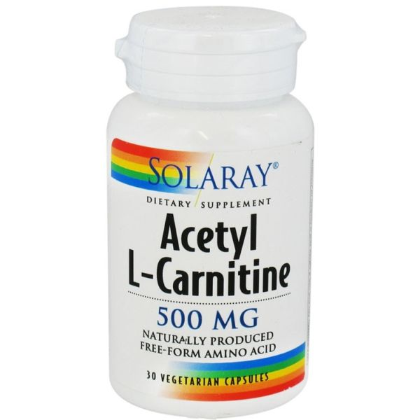 SOLARAY ACETYL L-CARNITINE 500MG 30 CAPSULAS