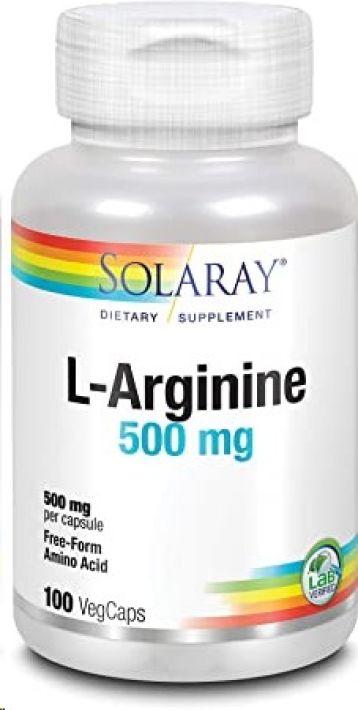 SOLARAY L ARGININE 500MG 100 CAPSULAS