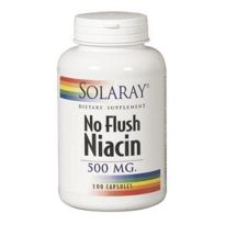 Solaray No Flush Niacina 500mg 100 cápsulas