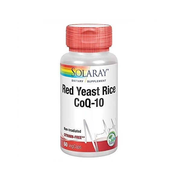 SOLARAY RED YEAST RICE COQ 10 60 CAPSULAS