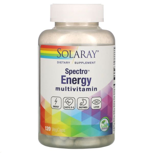 SOLARAY SPECTRO ENERGY MULTIVITAMIN 120 CAPS