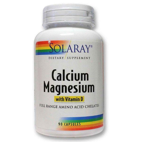 SOLARAY CALCIUM MAGNESIUM 90 CAPSULAS