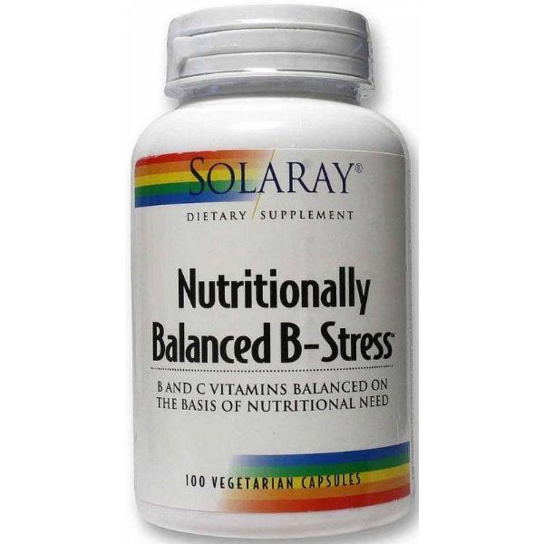 SOLARAY NUTRITIONALLY BALANCED B STRESS 100 CAPSULAS