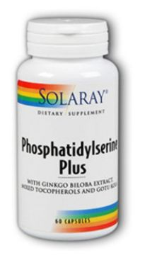 SOLARAY PHOSPHATIDYLSERINE PLUS 60 CAPSULAS