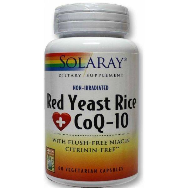 SOLARAY RED YEAST RICE COQ 10 60 CAPSULAS