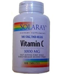 SOLARAY VITAMINA C 1000MG 100 COMPRIMIDOS