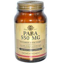 SOLGAR PABA 550MG 100 CAPS