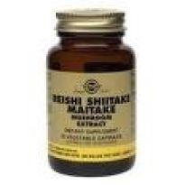 SOLGAR REISHI SHIITAKE MAITAKE MUSHROOM 50 CAPS