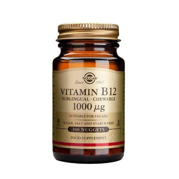 SOLGAR VITAMINA B12 1000ug 100 COMPRIMIDOS