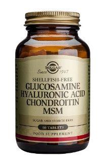Solgar Glucosamina Acido Hialuronico Condroitina MSM 60 comprimidos
