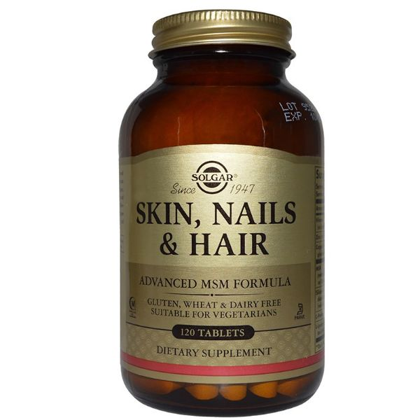 SOLGAR SKIN NAILS AND HAIR 120 CAPSULAS