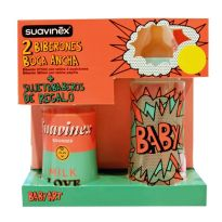 SUAVINEX BIBERON LATEX BABY ART T1 M 270ML Y T2 L 360ML PACK