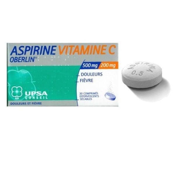 UPSA ASPIRINA VITAMINA C 20 COMPRIMIDOS EFERVESCENTES PACK 2 UNIDADES