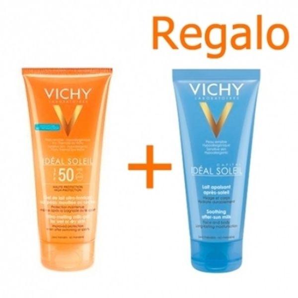 VICHY CAPITAL SOL IP50 GEL-LECHE ULTRA FUNDENTE 200ML + REGALO