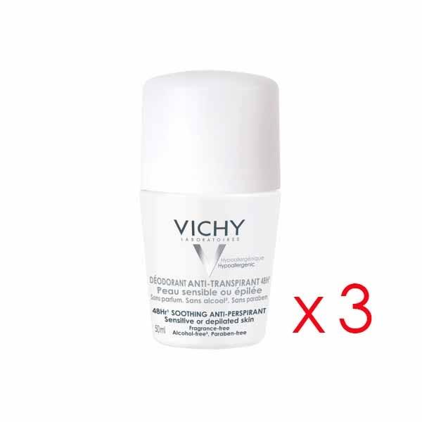VICHY DESODORANTE ANTI TRANSPIRANTE 50 ML X 3