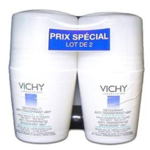VICHY DESODORANTE ROLL ON PIEL SENSIBLE 50MLX2