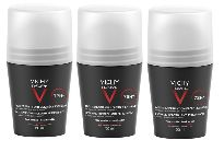 VICHY HOMME DESODORANTE REGULACION INTENSA ROLL-ON 50ML X3 UNIDADES