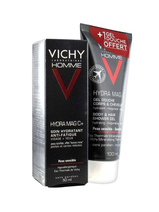 VICHY HOMME HYDRA MAG-C+ Y GEL DE DUCHA 100 ML DE REGALO