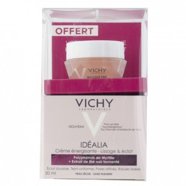 VICHY IDEALIA CREMA PIEL SECA 50ML + REGALO MASCARILLA PEEL 15ML