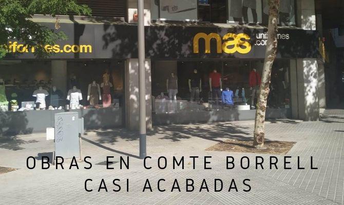 OBRAS EN LA CALLE BORRELL ACABADAS