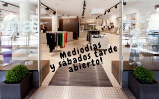 AMPLIO HORARIO, ABRIMOS MEDIODÍAS Y SÁBADOS TARDE