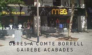 OBRES AL CARRER BORRELL QUASI ACABADES