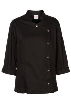 Jaqueta de Cuina Artel Negra de Cotó elàstica, entallada i molt transpirable