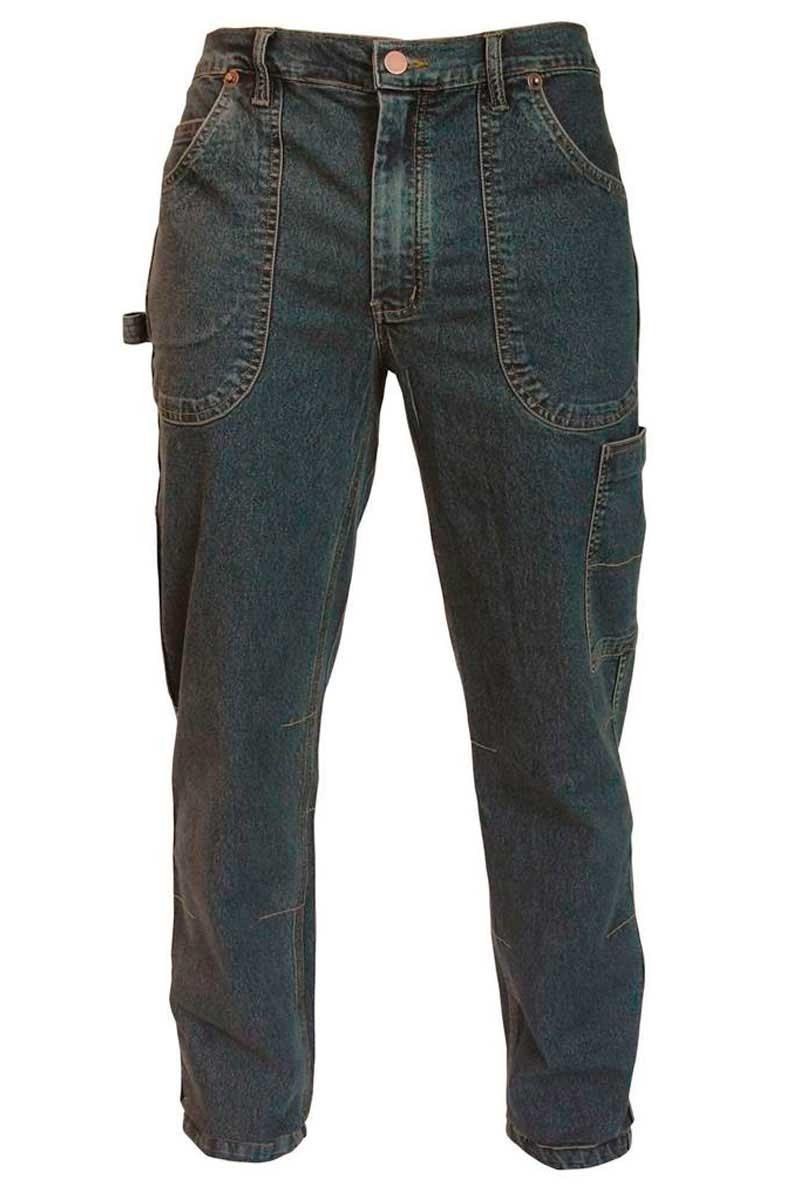 1e249cd77 Pantalón de trabajo tejano de la marca Siggi elástico con cintura ajustable  mediante velcro. pantalon de trabajo
