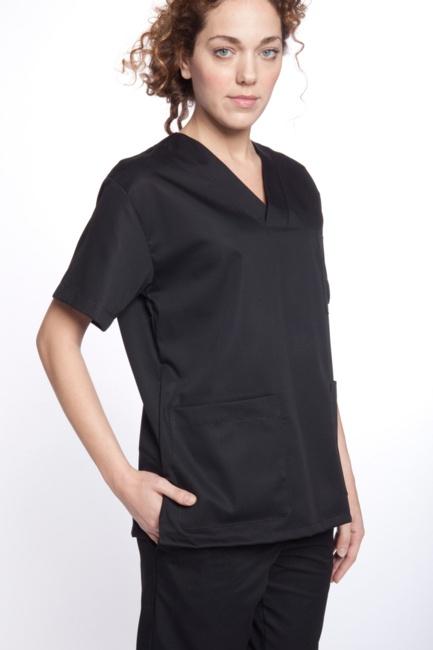 Oferta de camisa artel negra para uniforme sanitario en for Ofertas de sanitarios