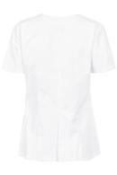 Blusón Artel manga corta, color blanco con cremallera