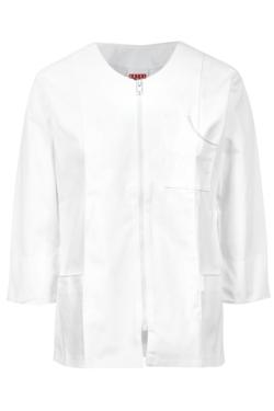 Blusó Artel màniga 3/4 color blanc amb cremallera