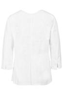 Blusón Artel manga 3/4 color blanco con cremallera
