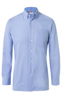 Camisa d'home Artel blau cel màniga llarga