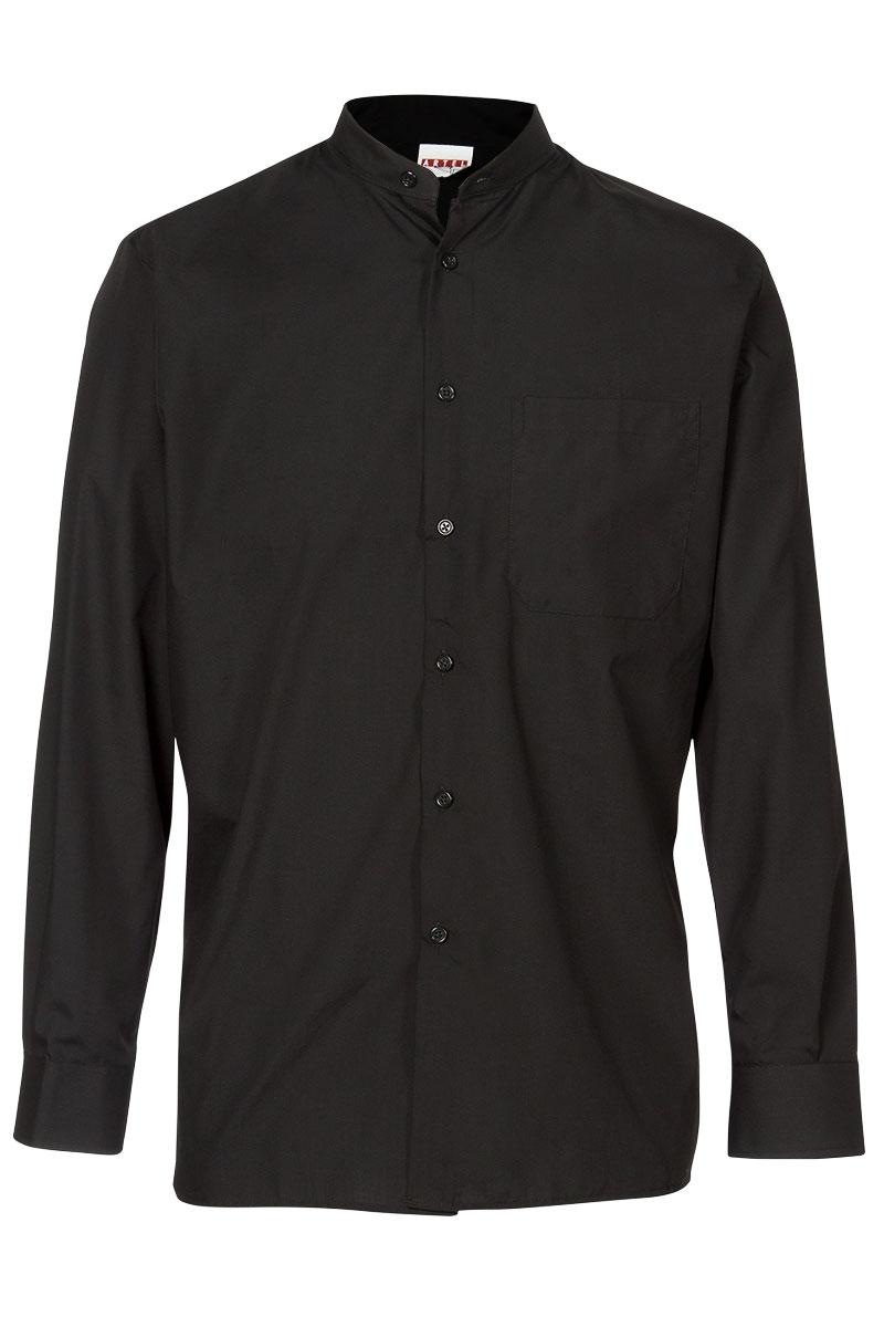 Camisa Artel negra de Cuello Mao | Camisa Hosteleria