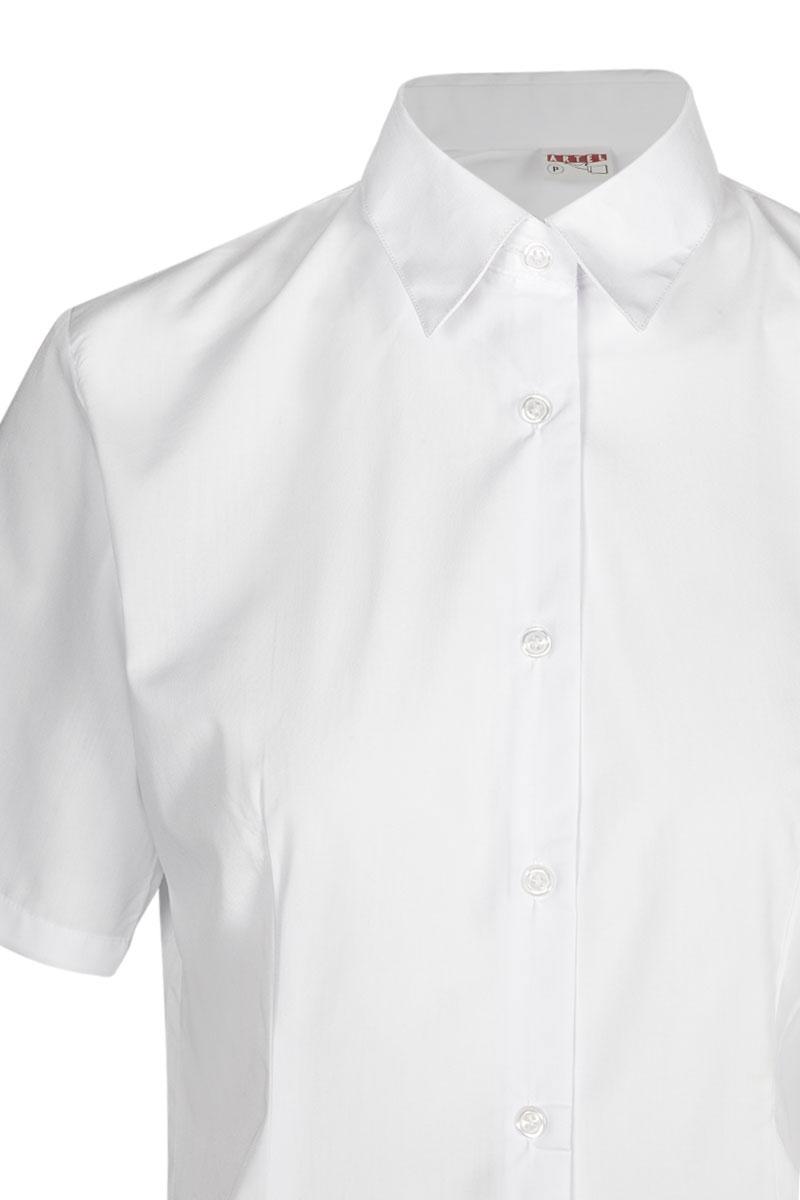 d2740f7ca5ab Blusa blanca entallada de mujer Artel manga corta