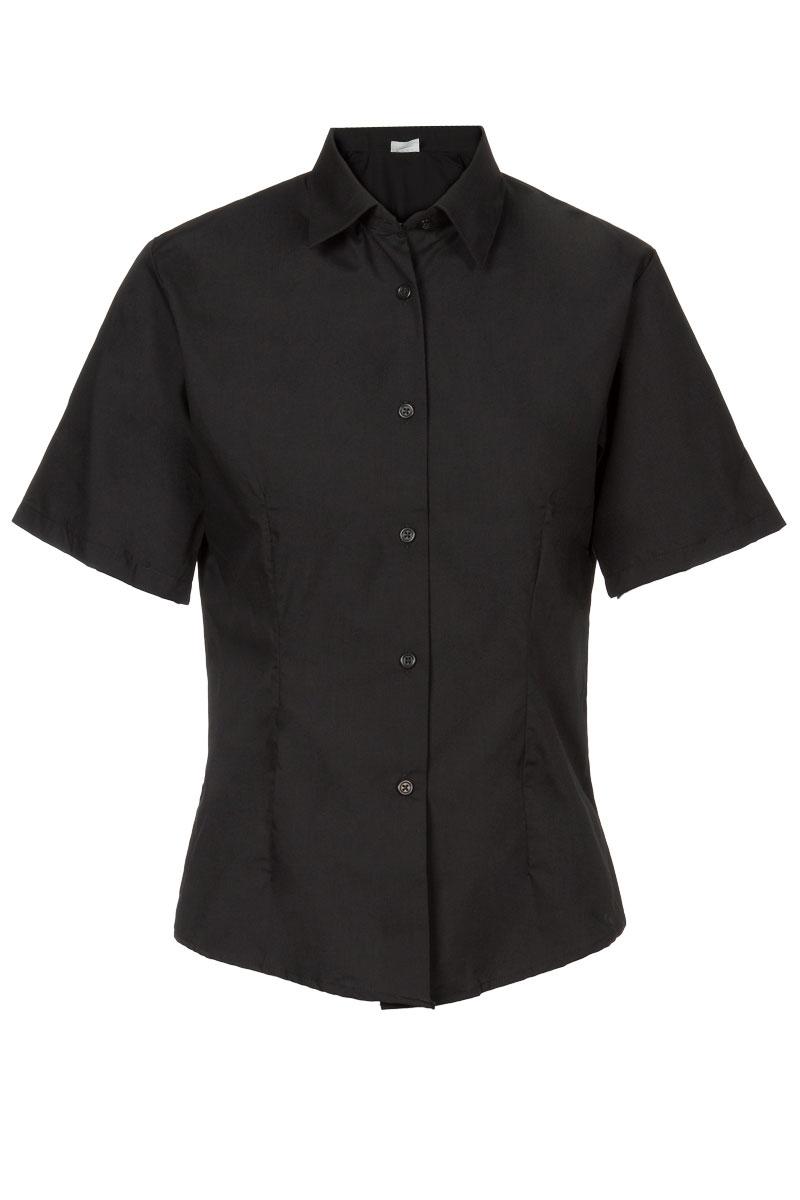 cd1107b84209 Blusa entallada negra para mujer Artel manga corta